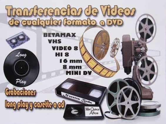 Conversiones de cassettes de video a dvds