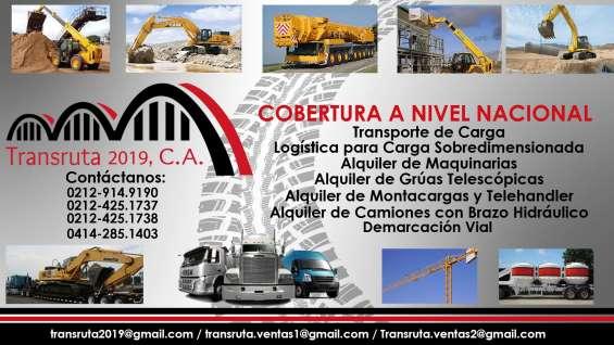 Servicio de alquiler camión con brazo hidráulico / articulado transruta 2019